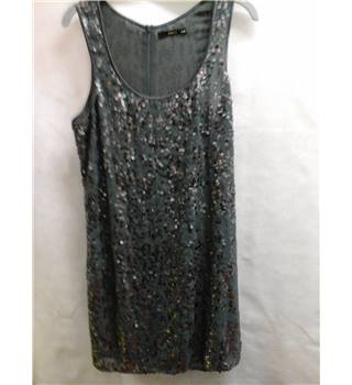 Oasis Size 12 Grey Sequins Dress