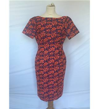 NWOT M&S Collection size: 8 red / blue floral knee length dress