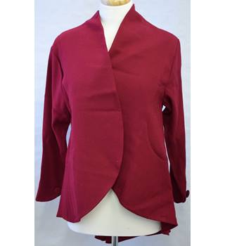 Vintage 1980s Angela Holmes for Droopy & Browns Red wool Jacket Size 10
