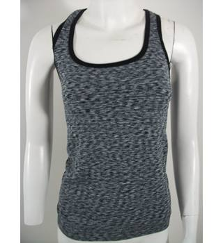 Marks & Spencer Active Sportswear Black/White Racer Back Top Size Small