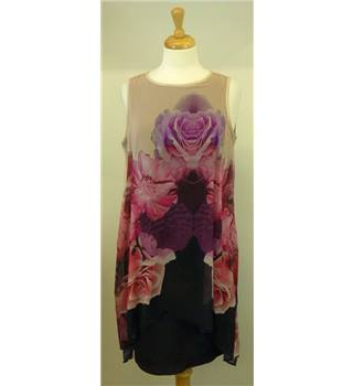 BNWT Wallis size: 10 purple,  pink and black dress