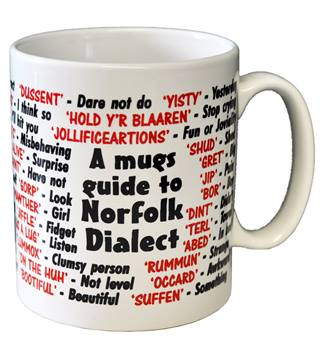 Norfolk Dialect Ceramic Coffee Mug Norfolk China
