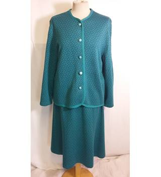 Richard Stump turquoise cardigan and skirt two piece size 16 Richard Stump - Size: 16 - Blue - Trouser suit