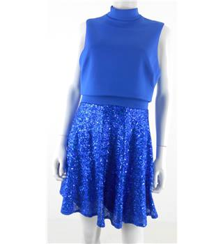 Asos Size 14 Royal Blue Sequin Occasion Dress