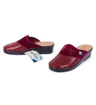 Fly Flot - Italian Comfort - Burgundy - Size: 3 UK (36) - Leather Slip On Flat Shoes New with Tags