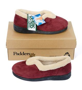 Padders - Ladies Slippers - Size: 3 UK (36) - Colour: Cranberry [New with Tags]
