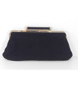 Dune Black Suede Evening / Party / Clutch Bag