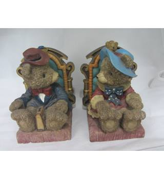 Pair of 1940's Teddy Bear book ends excellent condition