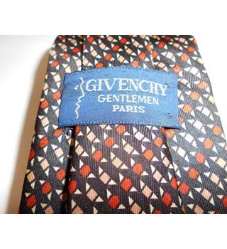 Givenchy Multi-coloured Geometric Pattern Silk Tie