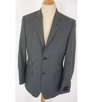 "Ted Baker Size: S, 36"" chest, tailored fit Shuttle Grey Smart/Stylish ""Time""  Wool Designer Single Breasted Jacket."