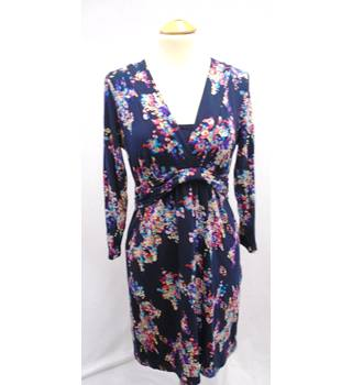 Boden - Size 12R - Navy Blue Floral - Day Dress