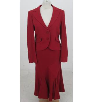 BNWT: Kaliko: Size 14: Red skirt suit