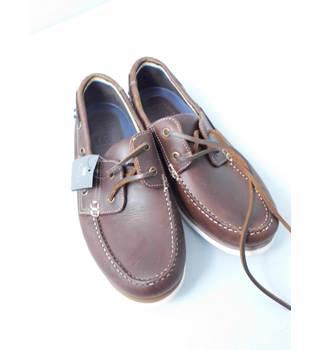 NWOT M&S Collection Size 7 Brown Deck Leather Shoes