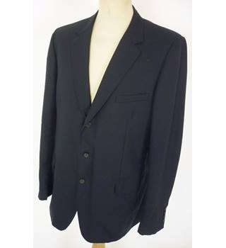 "Christian Dior Size: L, 42"" chest, regular fit Dark Navy Blue Smart/Stylish Wool French Designer Single Breasted Jacket."