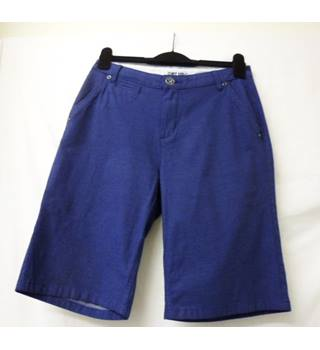 Per Una - Size: M - Blue  with White Dots x2 Cargo Shorts
