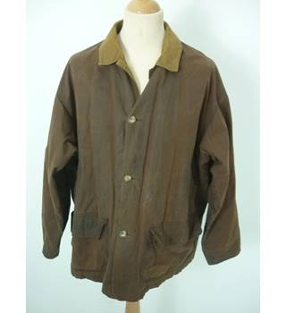 "Liberty Size: L, 42"" chest,  reg length Rustic Brown Casual/Country Treated Cotton Designer Jacket"