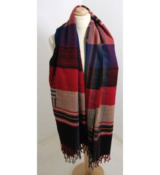 Accessorize Black Checked Blanket Scarf
