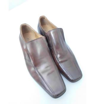Aldo Size 11 Brown Leather Slip On Shoe