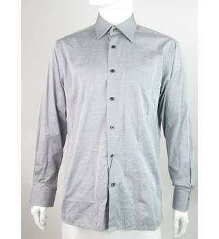 BNWT: Louie Philippe - Size: L - Grey - Long Sleeved Cotton Shirt