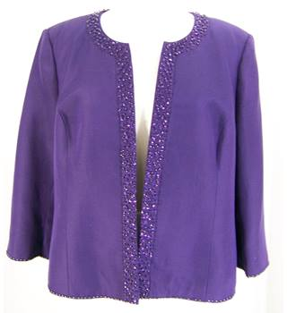 CC - Size: 18 - Purple - Embellished Jacket