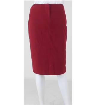 Alexander McQueen - size 12, deep red pencil skirt