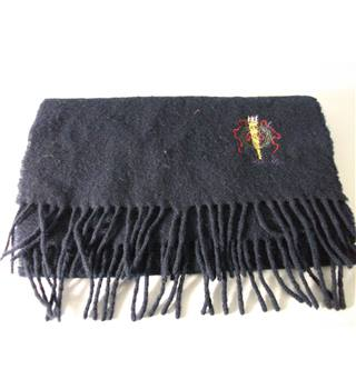 Harrods Navy Lambswool Scarf