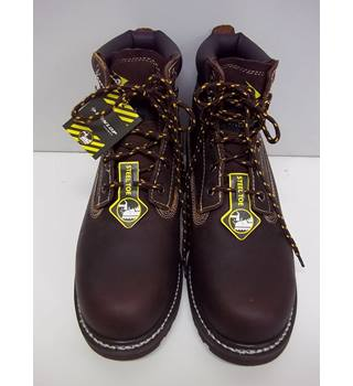As New Dunlop - Size: 9 - Brown Safety Boots