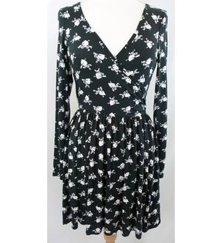 ASOS - Size: 8 - Black and White Hearts - Ladies' Mini Dress