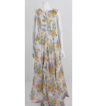 Beautiful Harrods Size 6  Multi-coloured Floral Long dress