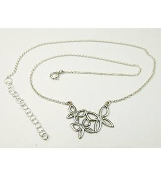 Crystal Chain silver cable chain necklace & butterfly pendant - 925 stamp