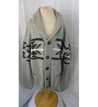 BOY'S REBEL KNITTED CARDIGAN, SIZE 12-13 YEARS Rebel - Size: 12-13 years - Grey - Cardigan