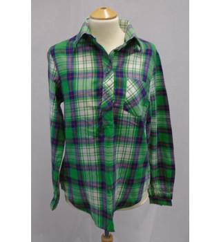 Vintage c1970s St Michael - Size S - Green Check - Shirt