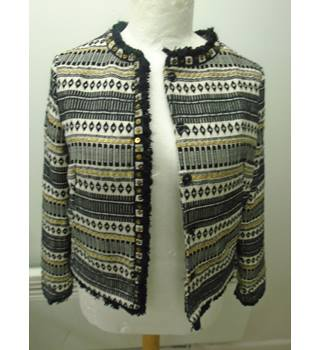 New Per Una - Size: 10 - Black and white Smart jacket / coat (L5)