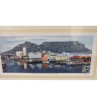 Mounted Print of Table Mountain from the Waterfront.