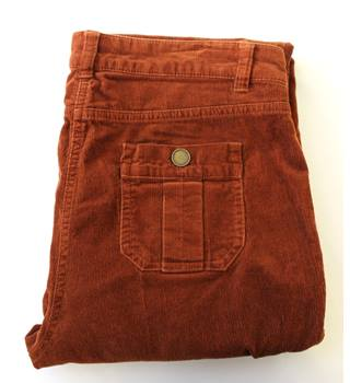 Monsoon - Size 16 - Orange - Corduroy Trousers