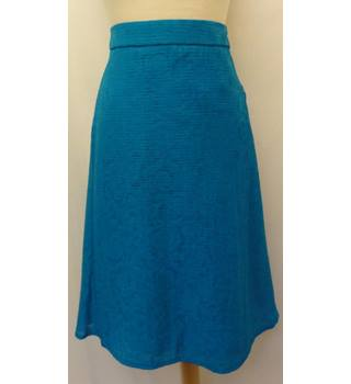 M&S Marks & Spencer - Size: 24 - Blue - Knee length skirt