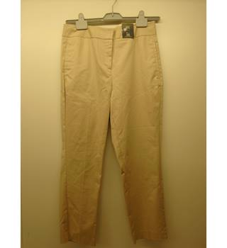 M&S Marks & Spencer - Size: 12R - Beige slim fit Jeans (L3)