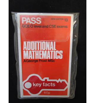 Vintage Key Facts Pass cards Additional Mathematics