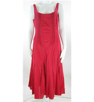Linea - Size: 16  - Red - Sleeveless Dress
