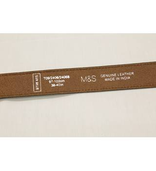 BNWT M&S Brown Leather Belt - Size 38-40 inches