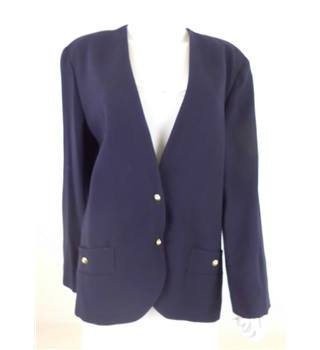 Jaeger - Size 14 - Navy with gold buttons blazer