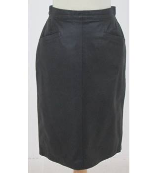 Worn By Kate Moss - Unbranded, size S black leather skirt
