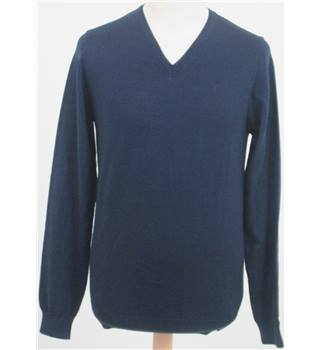 NWOT M&S Collection size: S navy blue wool/silk blend jumper