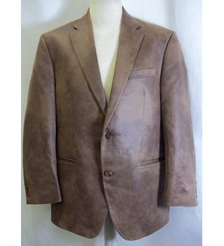 "Ralph Lauren size 44"" chest brown mole skin style jacket-"