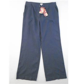 "BNWT East - Size: 30"" - Dusky Blue -  Linen Trousers"