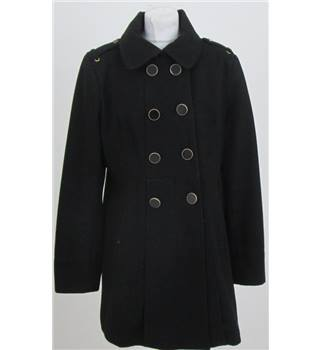 Kenneth Cole size: 12 black double breasted coat