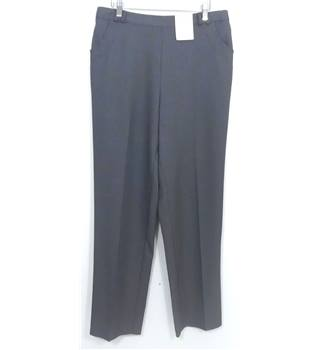 NWOT M&S Collection Classic Size 12 grey tapered leg trousers