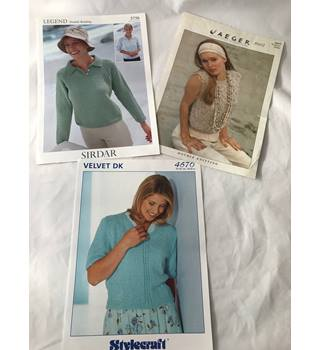 Three Knitting Patterns for Ladies Sweaters