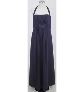 Alfred Angelo Size:18 purple halter-neck evening dress