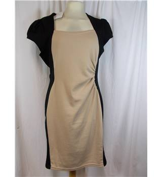 BNWT New Look size 14 beige and black dress